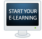 Image of computer screen with Start Your E-Learning